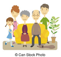 Generations Clipart And Stock Illustrations  28 Three Generations