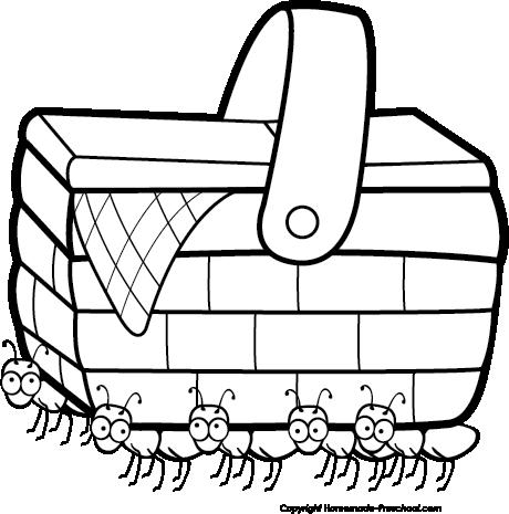 Cute Picnic Basket Clipart - Clipart Kid