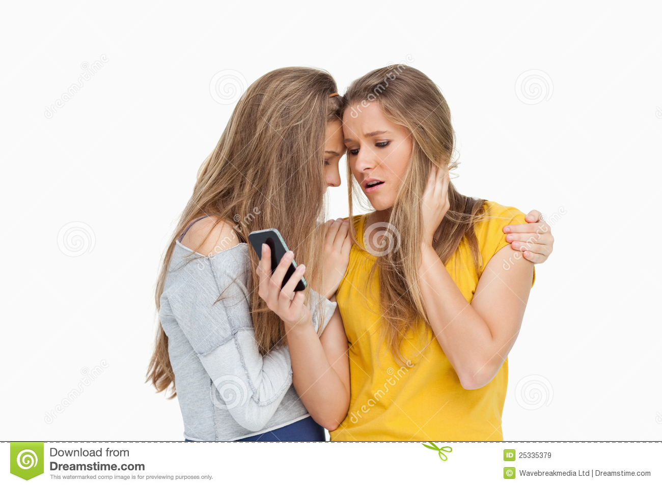 Royalty Free Stock Images  Upset Young Woman Looking Her Cellphone