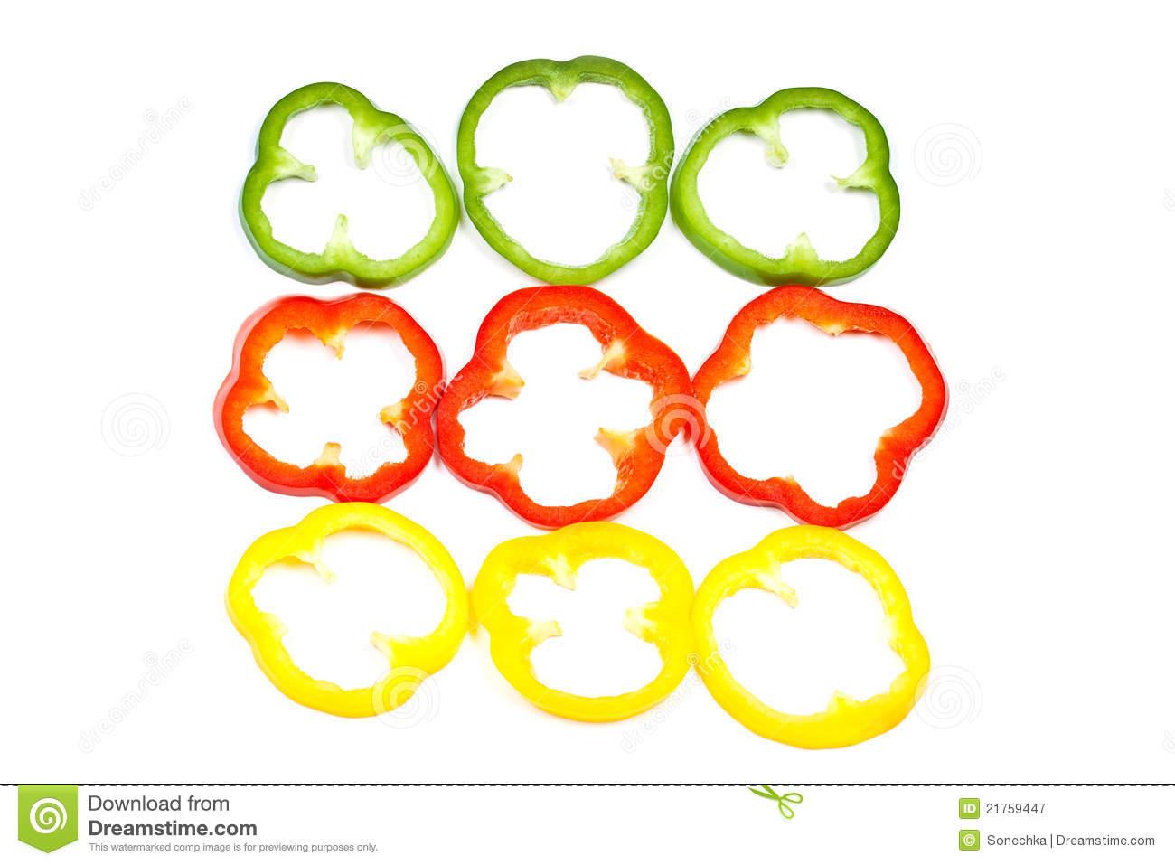 Green pepper slice clip art