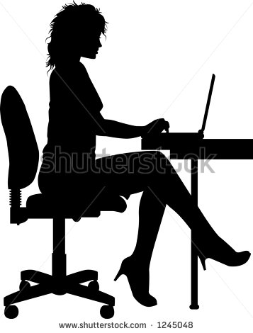 There Is 55 Secretary Desk Silhouette Free Cliparts All Used For Free