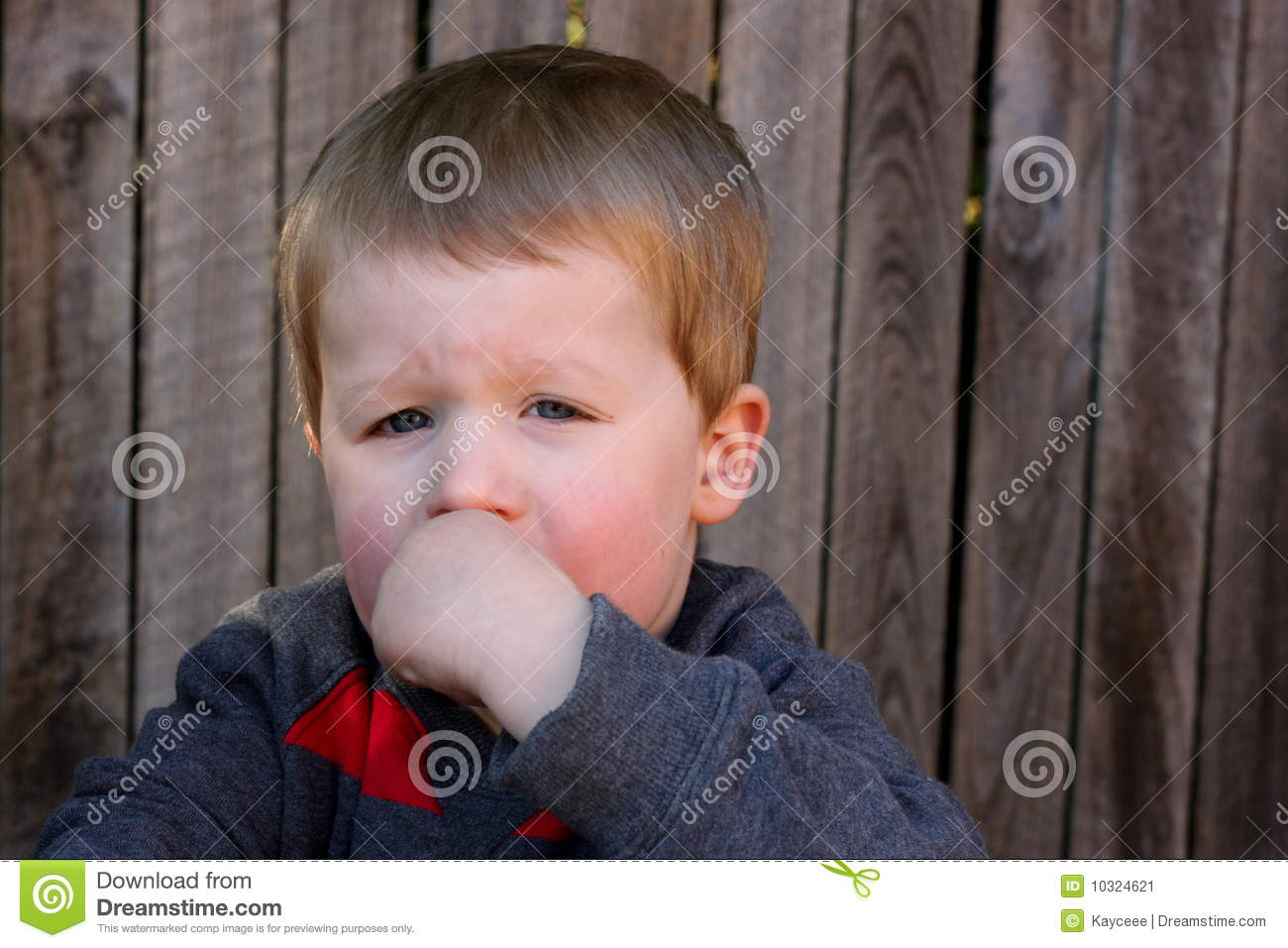 Young Child Looking Upset Stock Image   Image  10324621
