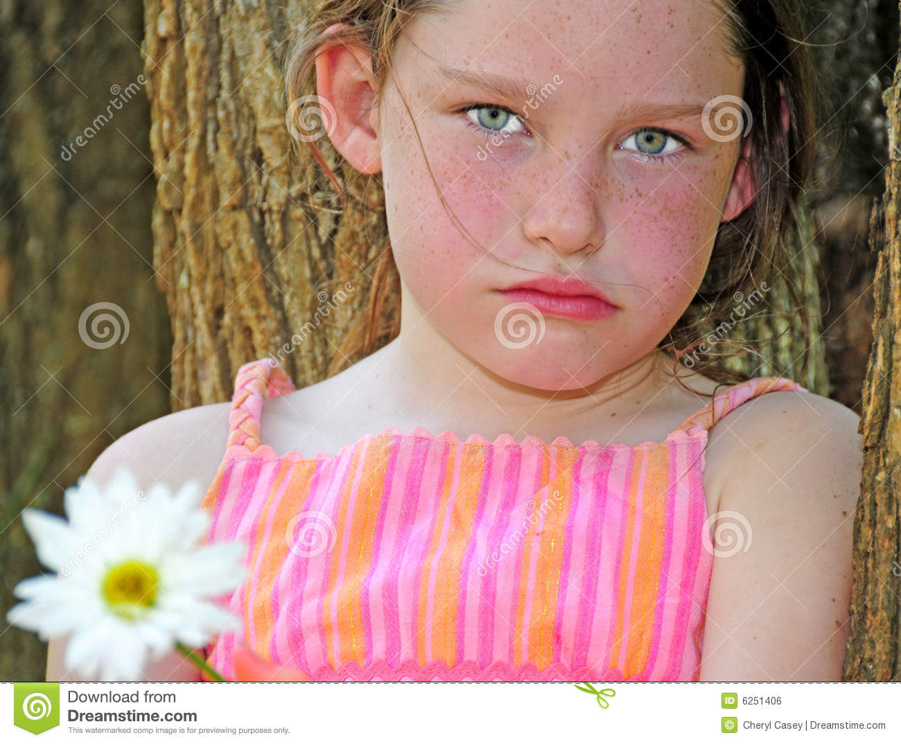 Young Girl Looking Upset Royalty Free Stock Image   Image  6251406