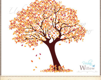 Amber Tree   Clip Art Image In 3 Sizes  Png   Jpeg Files  Small To