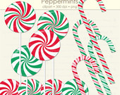 Clipart Candy Canes Clip Art Christmas Clipart Holiday Clip Art
