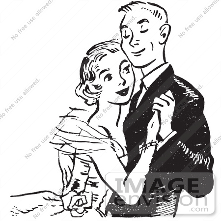 Couple Dancing At High School Prom In Black And White   0003 1310 1716