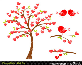 Day Clip Art Insta Nt Download Clip Arttree Clip Art Red Heart Tree