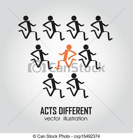 Different Person Running In The Same    Csp15492374   Search Clipart