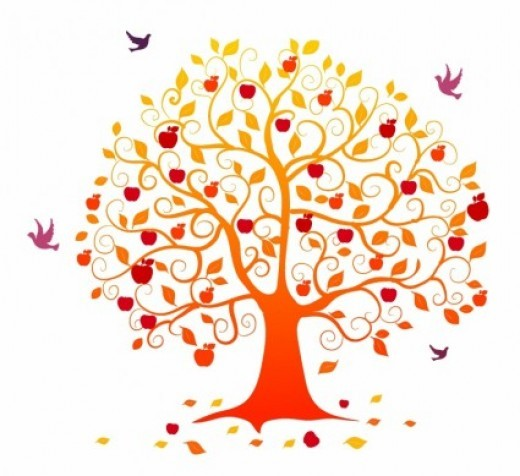 Fall Heart Tree Clipart - Clipart Kid