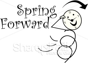 Forward Daylight Savings Stick Figure   Christian Calendar Clipart