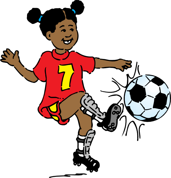 Girl Playing Soccer Clip Art  Png And Svg