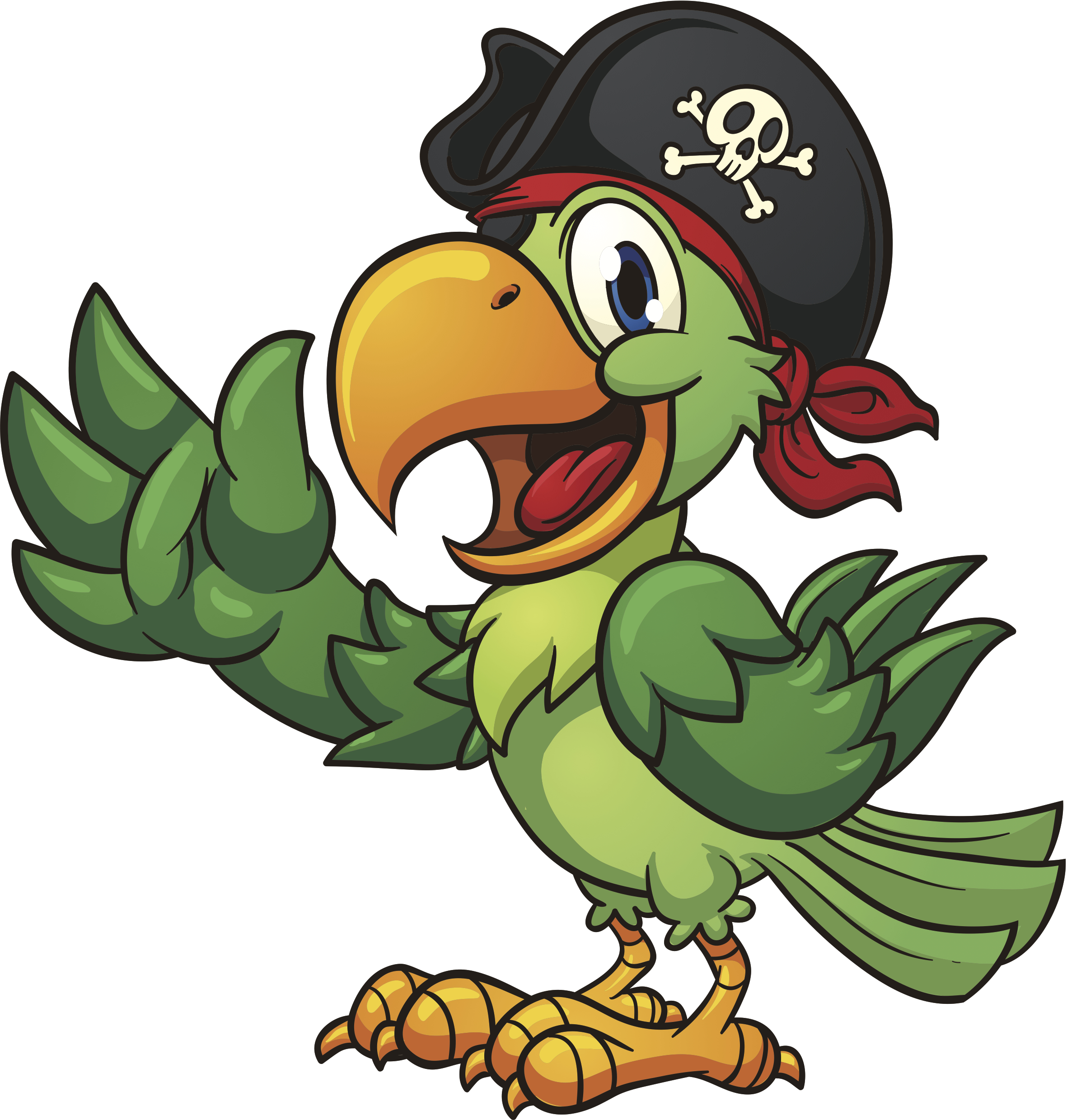 Cute Pirate Parrot Clipart - Clipart Kid