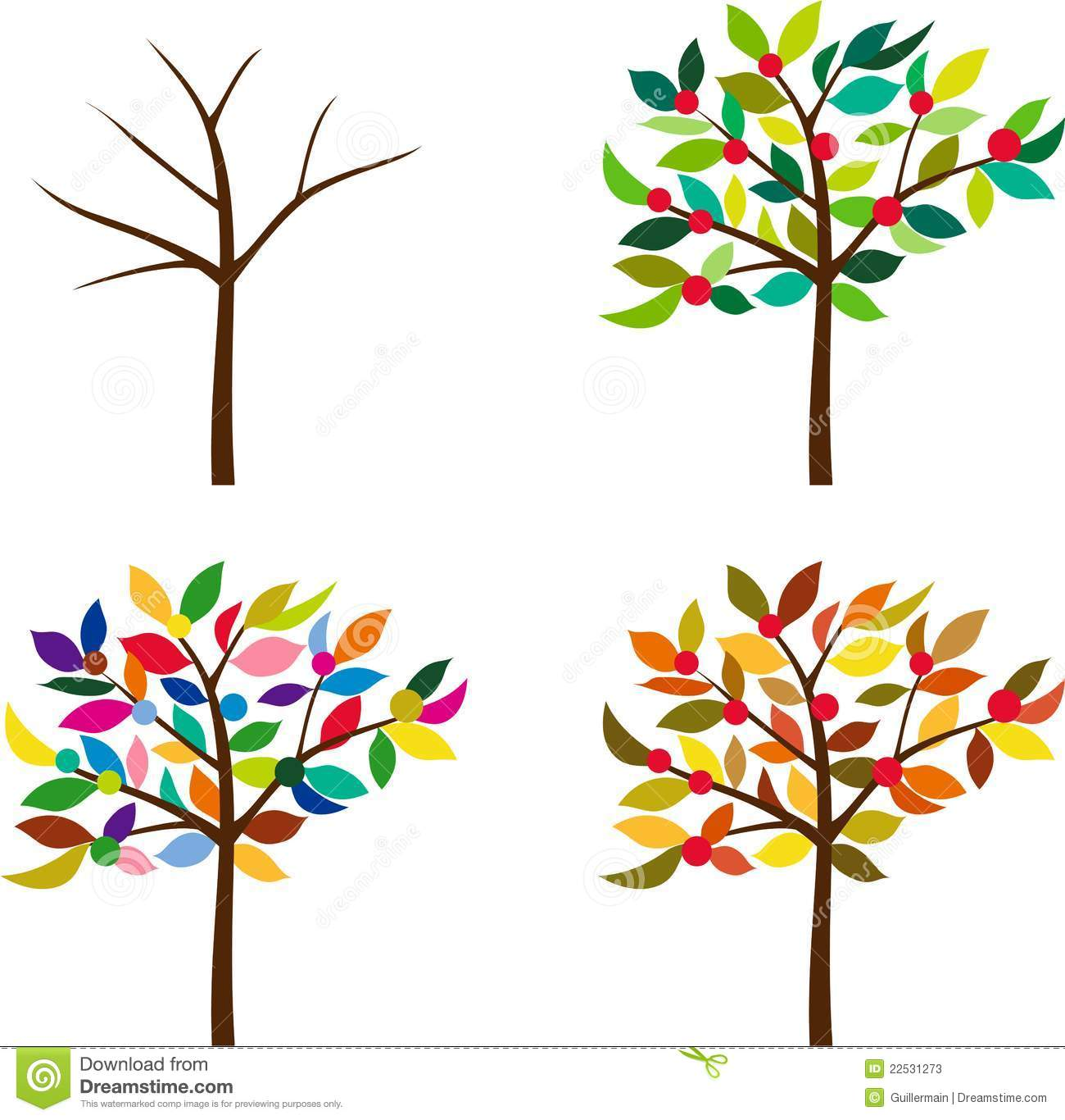 Same Tree In Different Seasons Stock Photos   Image  22531273
