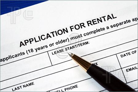 Signed The Rental Application Pics  Stock Image To Download At