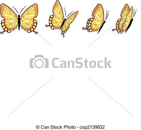 The Same Butterfly In Four Different Views Csp2139832   Search Clipart