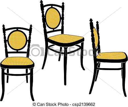 The Same Chair In Three Different Sights Csp2139662   Search Clipart