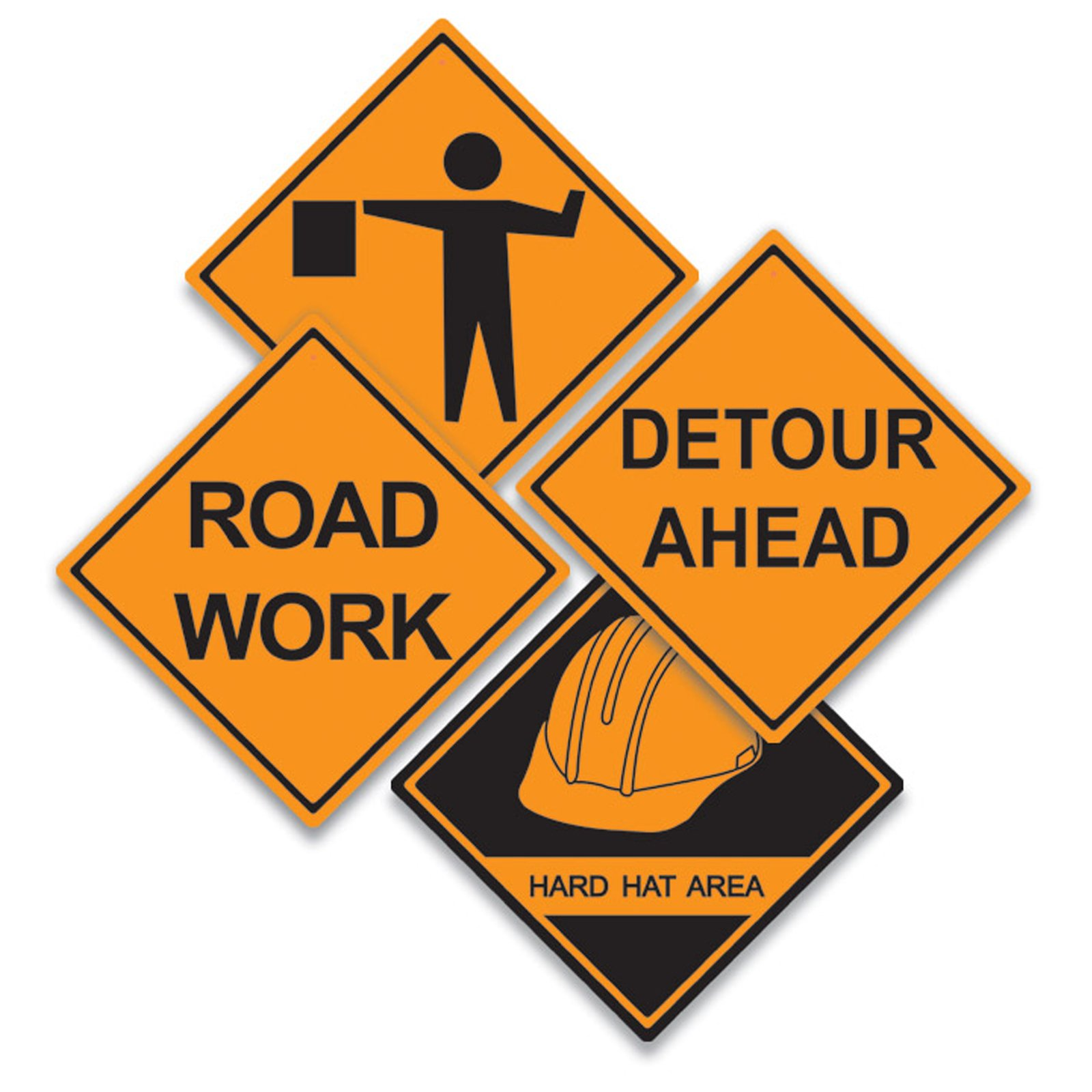 Image result for road work ahead clip art