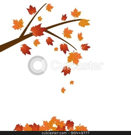 Tree Stock Vector Clipart Branch Of Maple Tree Autumn Leaf Fall