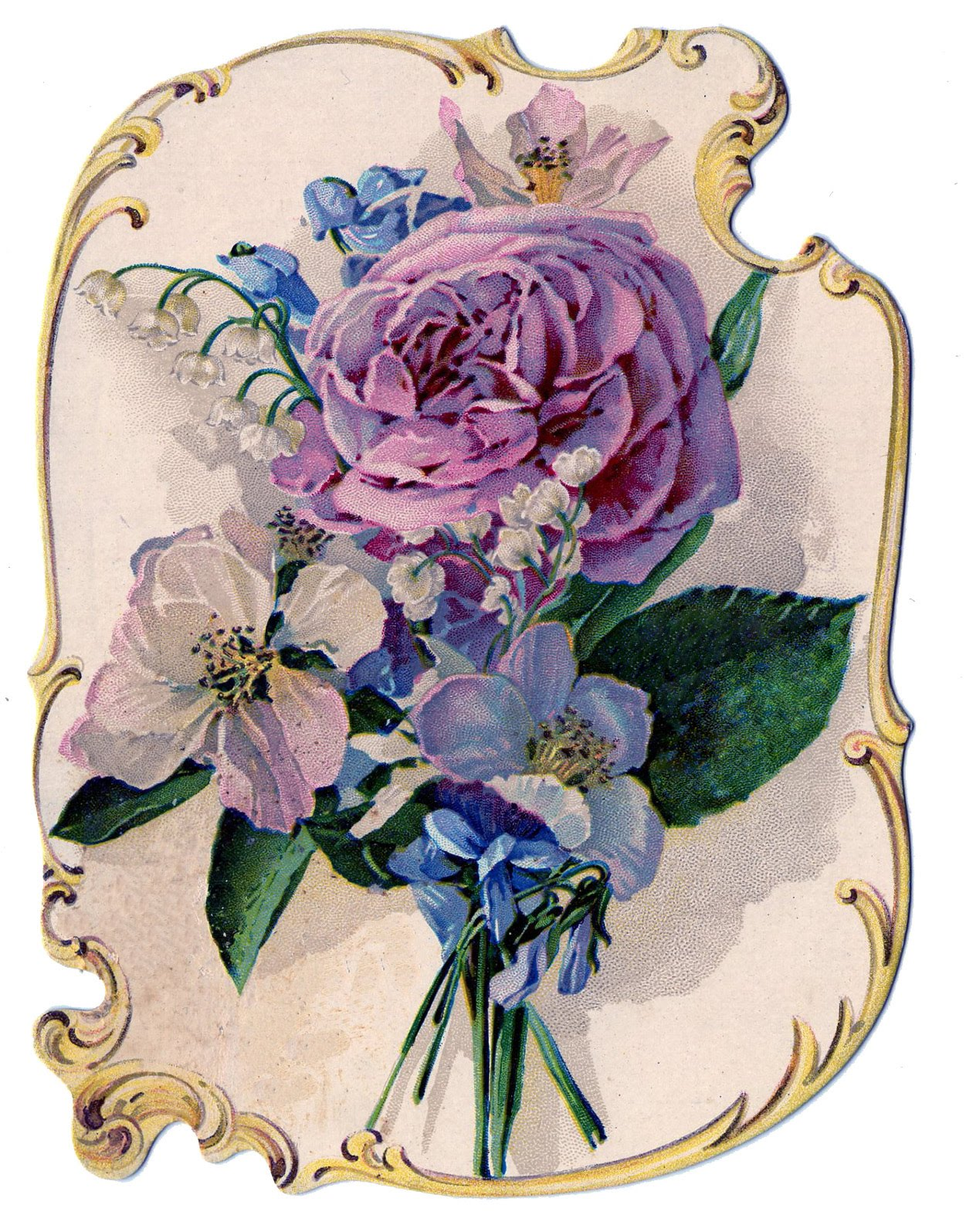 Victorian Clip Art   Stunning Rose Bouquet Perfume Ad   The Graphics