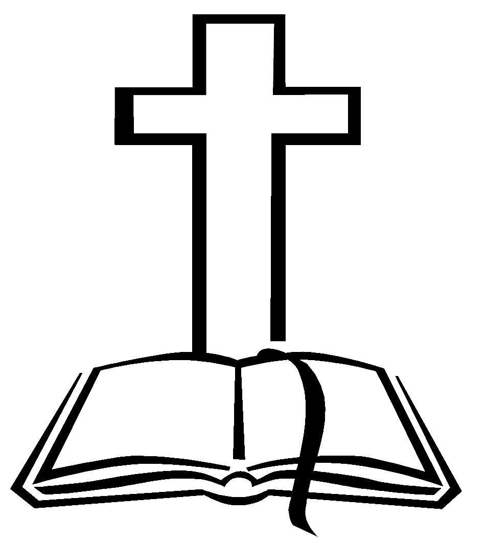 Cross and Bible Clip Art