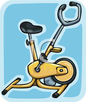 1817 5758 Yellow Stationary Exercise Bike Clipart Clipart Image Jpg