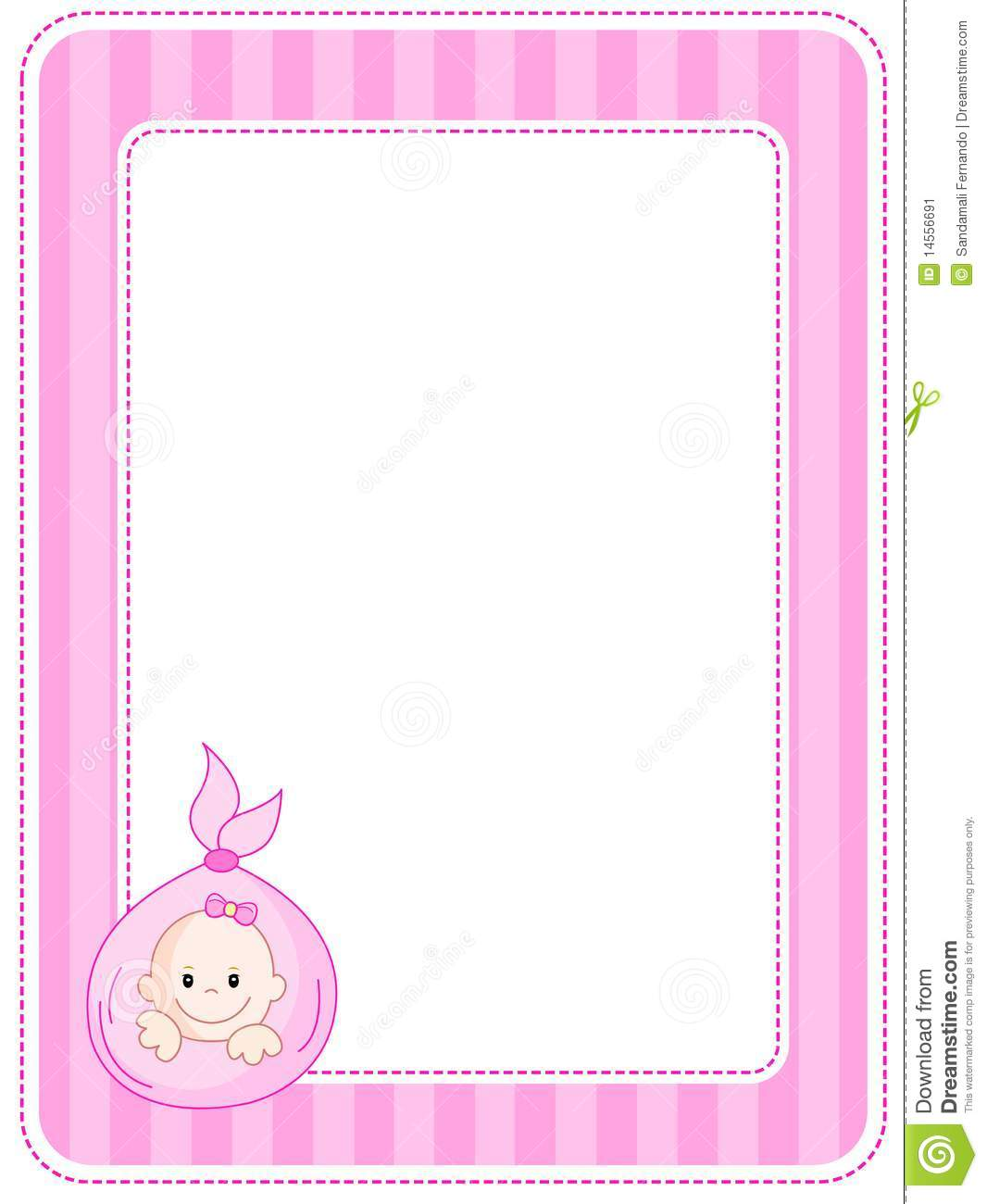 Pink Baby Border Clipart
