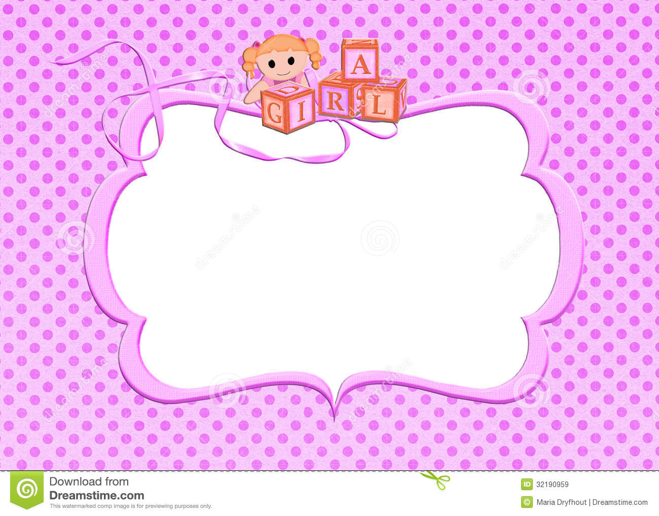 Baby Girl Toys Clipart Pink Baby Girl Frame Royalty Free Stock Images