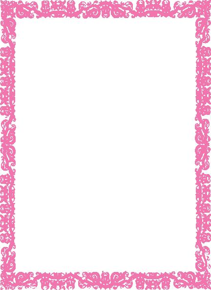 Border Pink Clip Art At Clker Com   Vector Clip Art Online Royalty