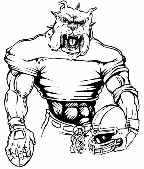 Football Bulldog Clipart - Clipart Suggest