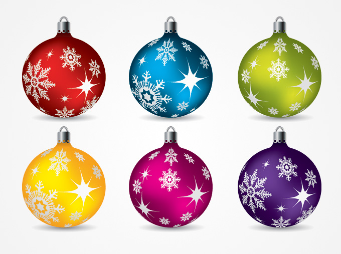 Christmas Balls Ornaments Vector Clip Art  Free    Free Vector Archive