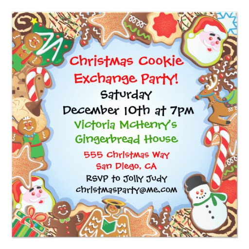 Christmas Cookie Exchange Party Invitation 5 25 Square Invitation