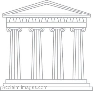 Greek Buildings Clipart - Clipart Kid
