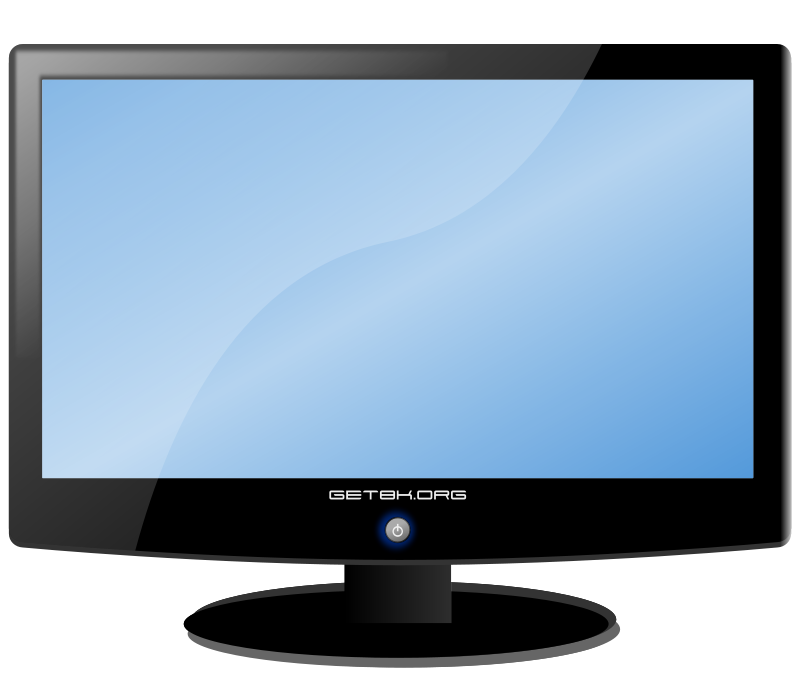 Clipart Png 33 28 Kb Lcd Widescreen Monitor Computer Clipart Png 62 77