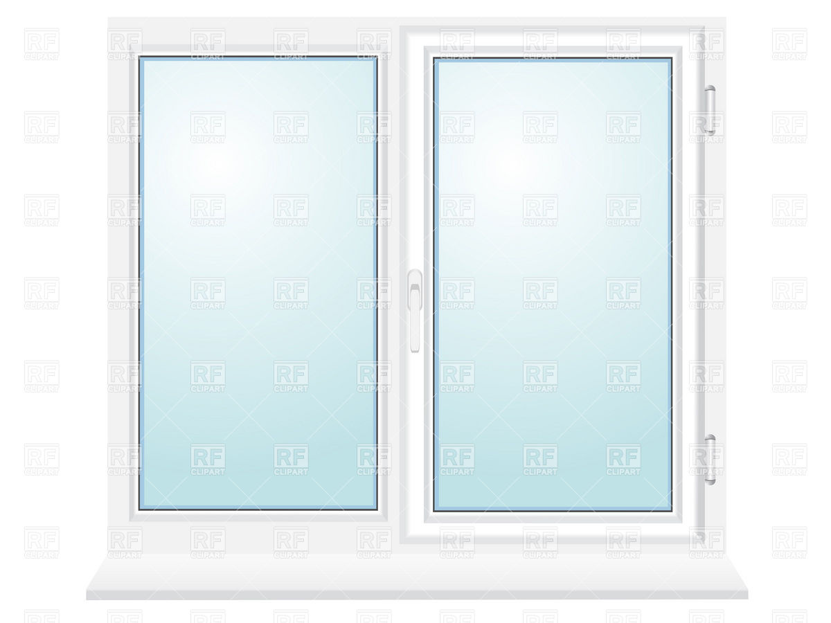 Closed Plastic Window With Two Sections 19256 Download Royalty Free