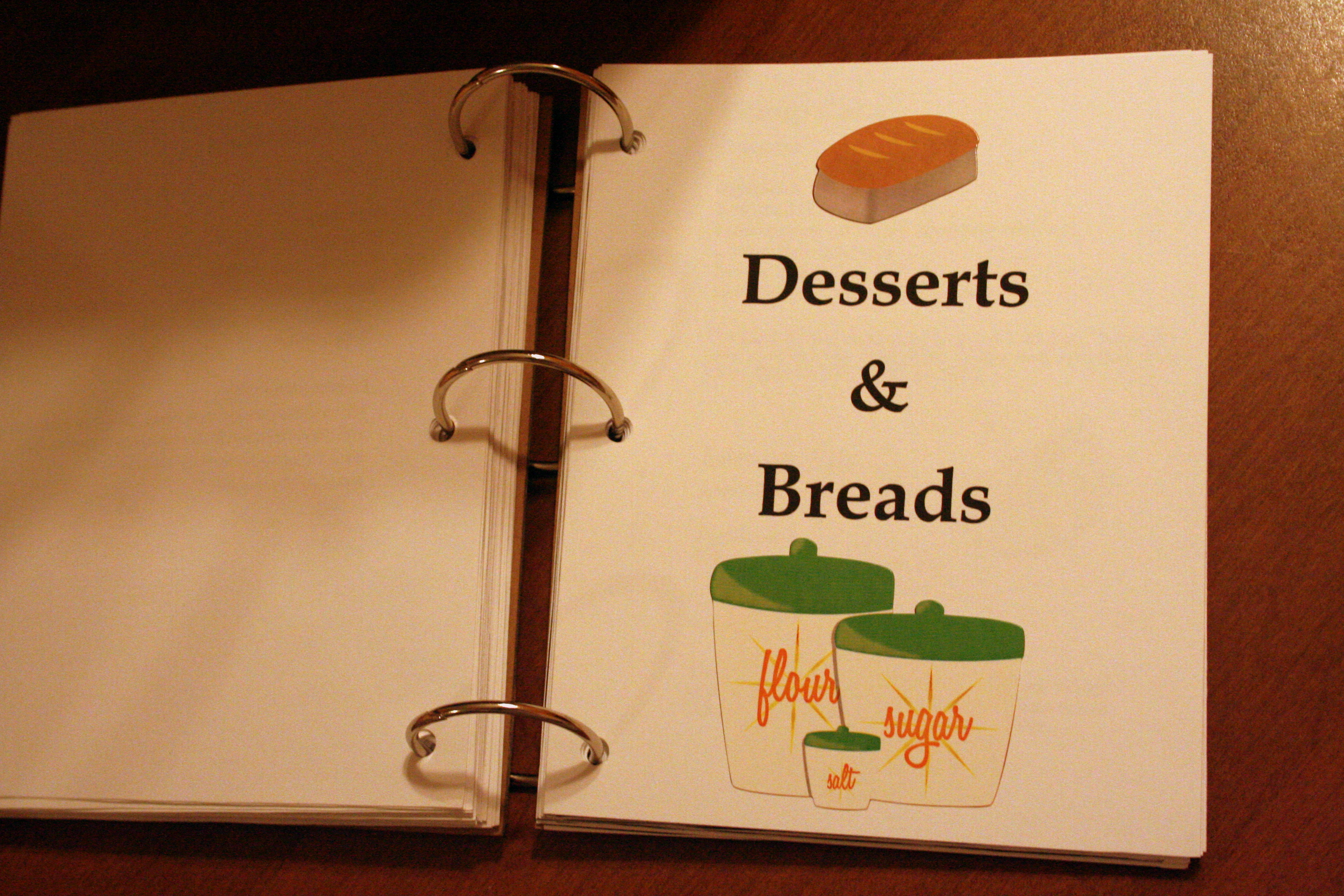 Diy Recipe Book Cover : Cookbook covers clipart suggest