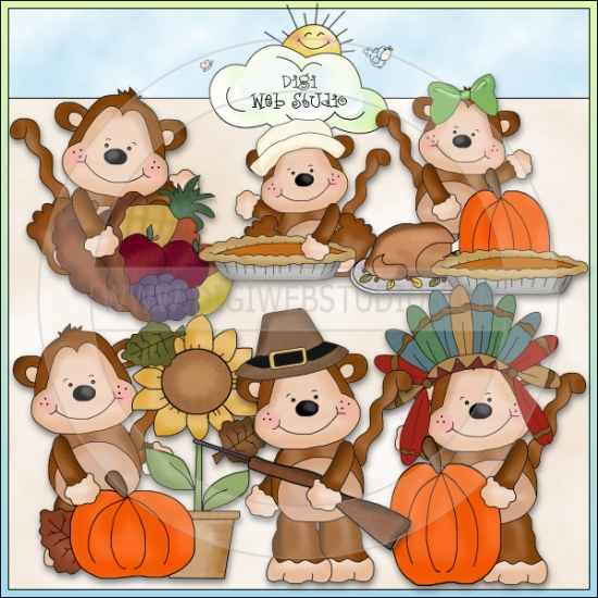First Thanksgiving Feast Clipart Mikey   Mona S First