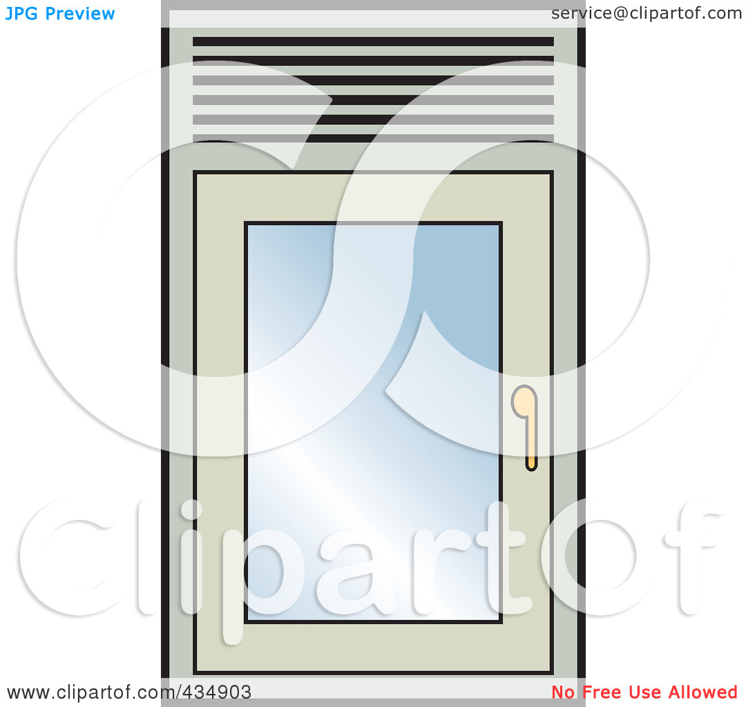 Free  Rf  Clipart Illustration Of A Closed Window By Lal Perera