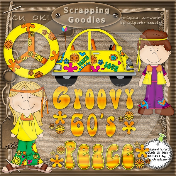 Groovy 60 S 1   Whimsy Primsy Country Clip Art   Click Image To Close