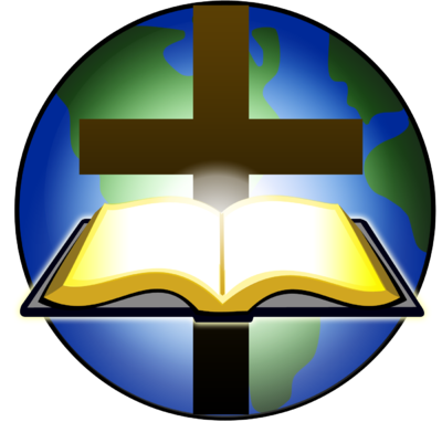 Image  Bible And Cross Before Globe   Cross Image   Christart Com