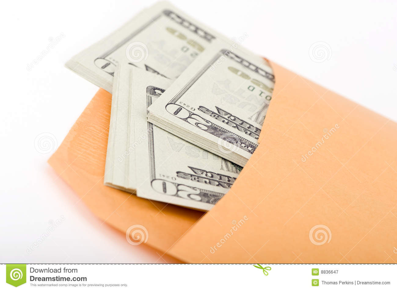 Manila Envelope Filled With Money  Somebody S Getting Paid