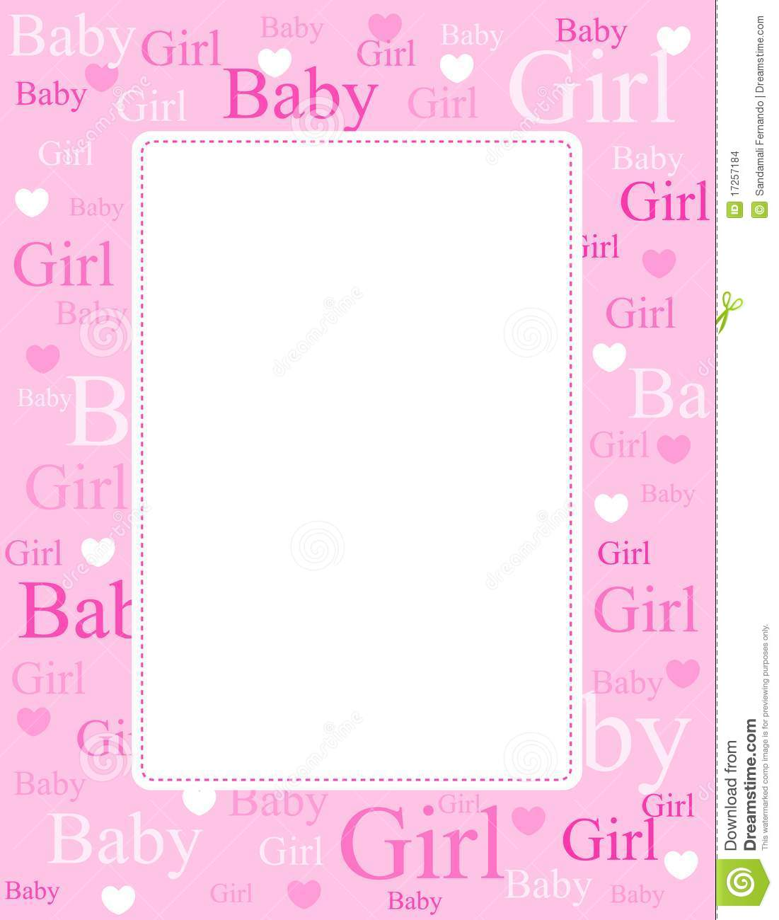 More Similar Stock Images Of   Baby Girl Arrival Card   Background