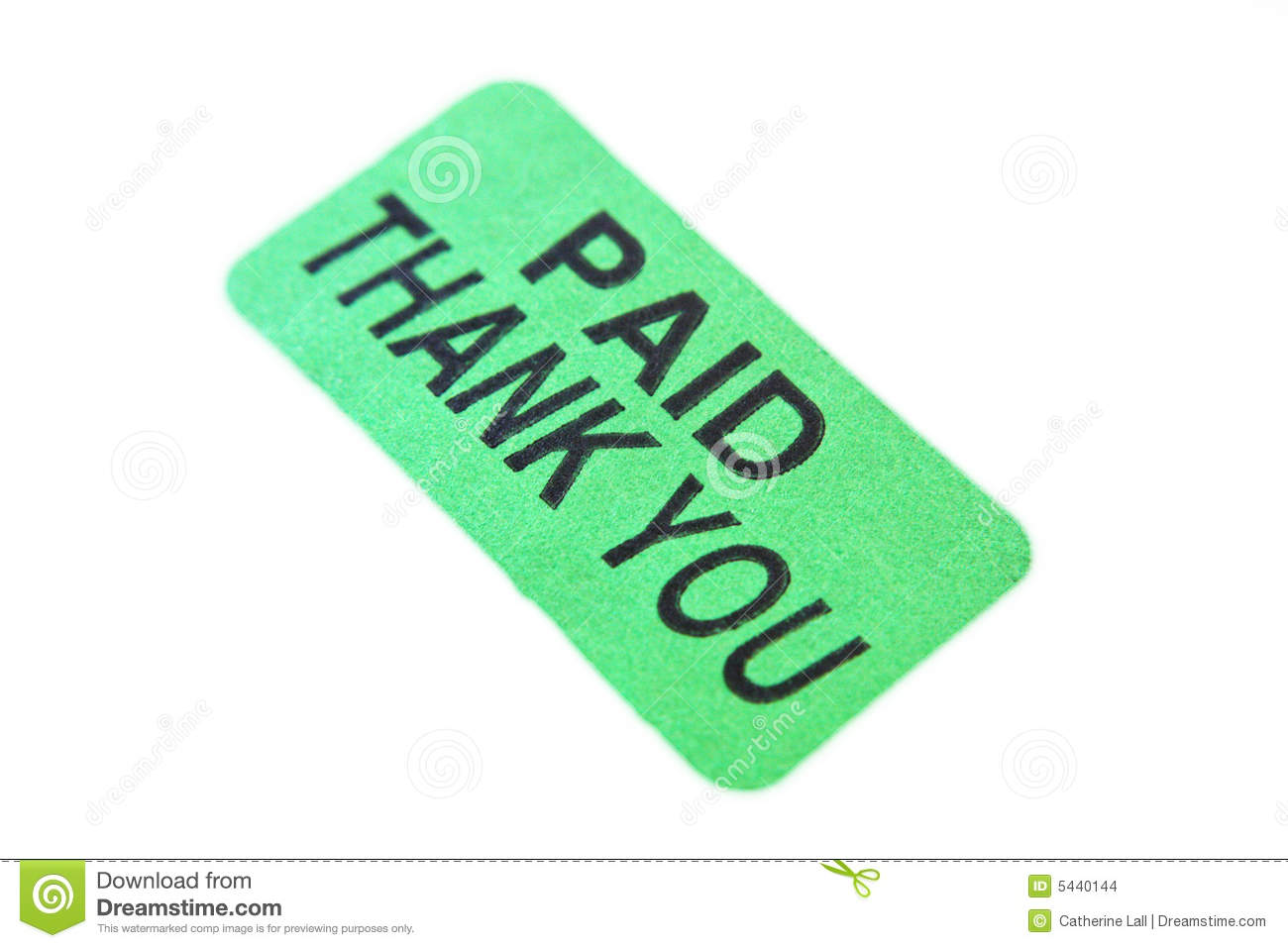 Paid Thank You Stock Images   Image  5440144