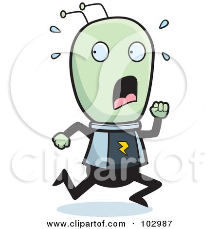 Scary alien cartoon