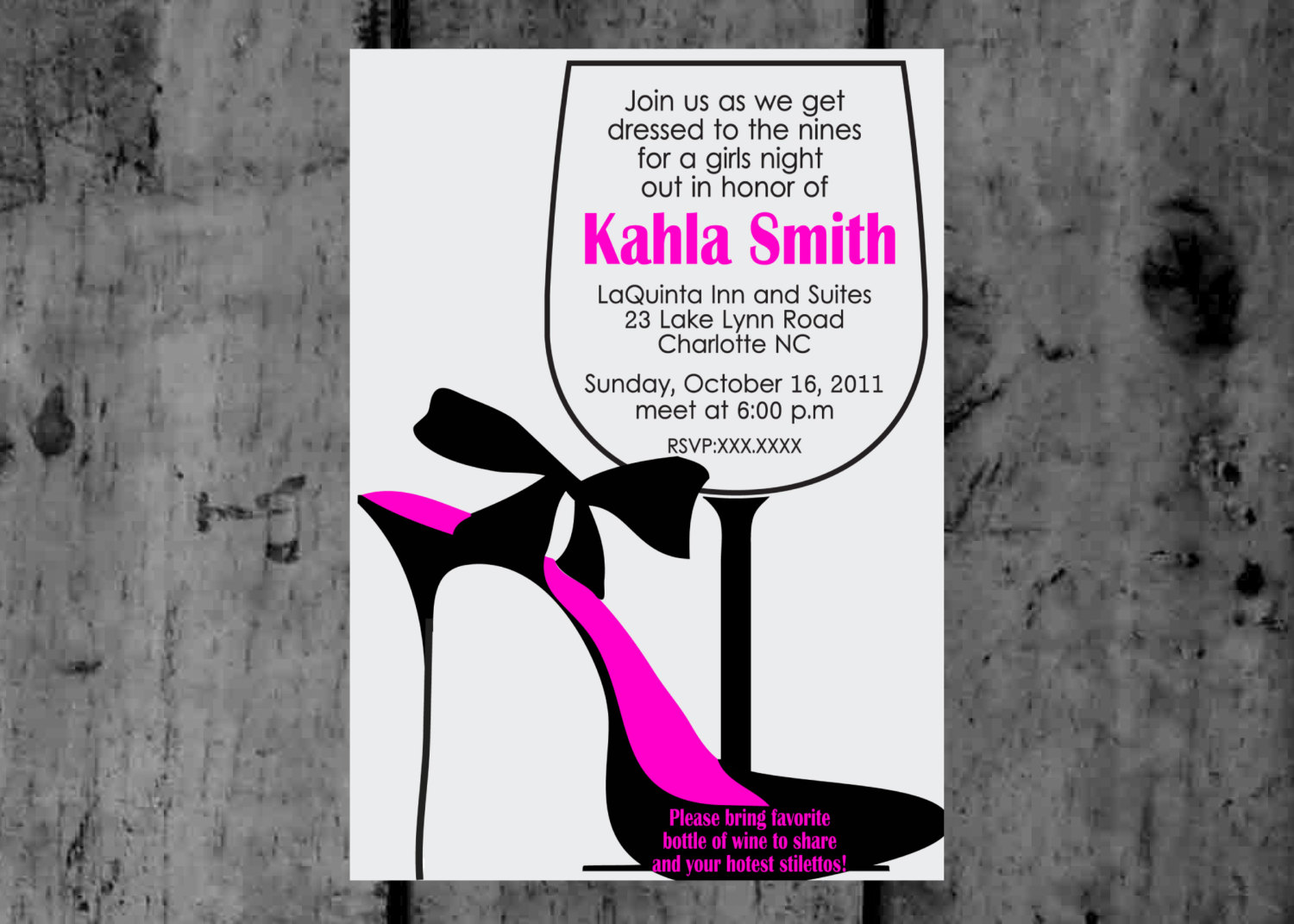 Stilettos And Wine Ladies Night Out Party By Makinmemoriesonpaper