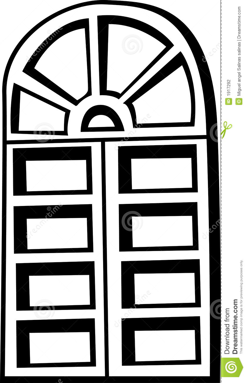 Window Clipart Old Closed Window Vector