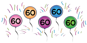 60th Birthday Border Clipart - Clipart Kid