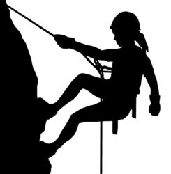Abseiling Lady Stock Vector