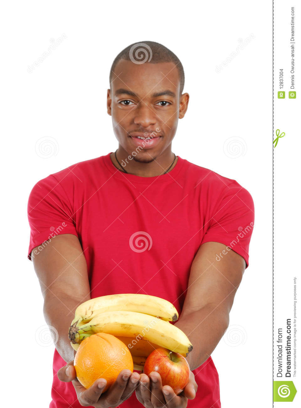 African American Man Holding Fruits Stock Images   Image  12837004
