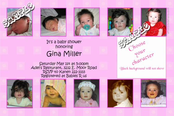 Baby Shower Invitations  Babyface 29 With Clipart Baby Shower