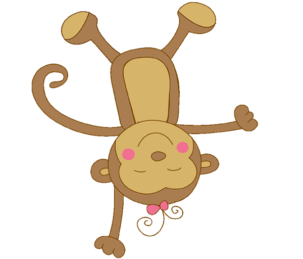 Baby Girl Monkey Clipart Clipart Suggest